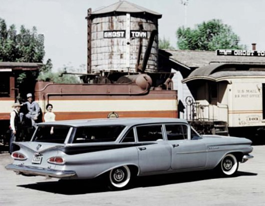 These sure bring back some memories: 1941 Chrysler Thunderbolt, 1951 Buick LeSabre, 1951 Chrysler K310, 1953 Buick Wildcat, 1956 Ford Sunliner, 1959 Chevrolet Brookwood Stationwagon, 1971 Buick Rivera Boattail