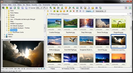 Tela do FastStone Image Viewer