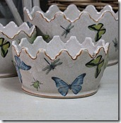 Set of Three Butterfly Planters