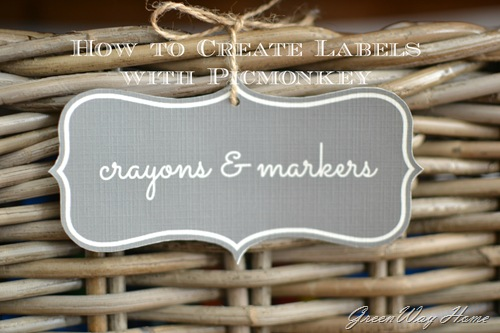 GreenWay Home: making labels with picmonkey