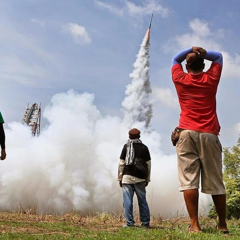 Bun Bang Fai Rocket Festival in Yasothon, Thailand