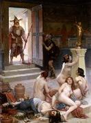 Brenno y su parte del botín. Pintura de Paul Jamin, 1893.