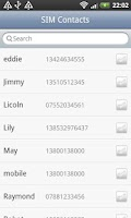 Screenshot of SIM Contacts