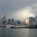 cloudy skyline of Toronto in Toronto, Ontario, Canada