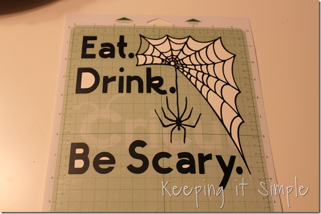 Halloween vinyl plate (6)