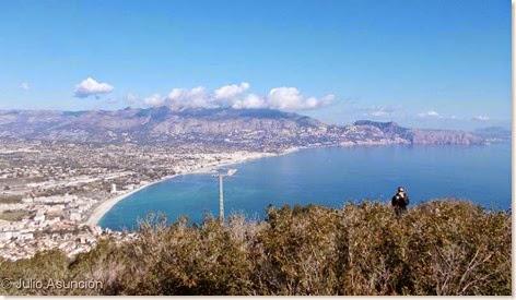 Panoramica de la Playa del Albir desde la cima de Sierra Helada