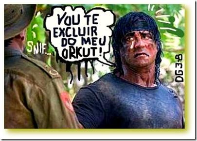 Imagem do Rambo dizendo Vou Te Excluir do Meu Orkut