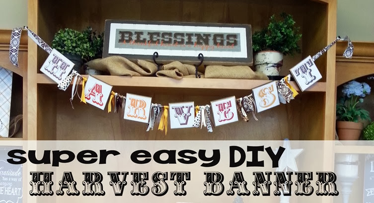 DIY Harvest Banner for Super Saturday Craft Ideas