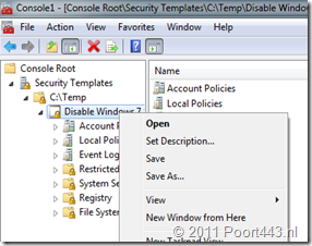 Security Template Export