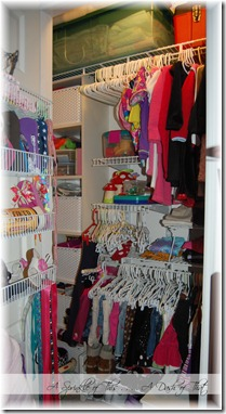 Child Closet After {A Sprinkle of This . . . . A Dash of That}