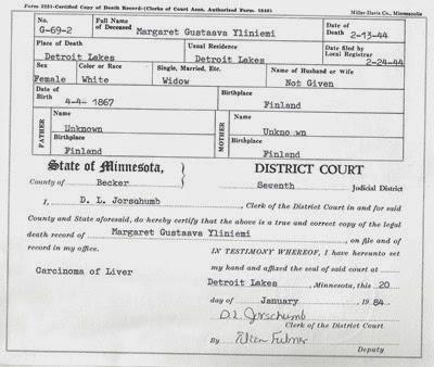 Margarteeas Deathj Certificate