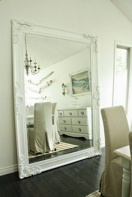 Grote spiegel huishoudelijke apparaten vanuit een andere hoek - Grote spiegel kleefstof ...