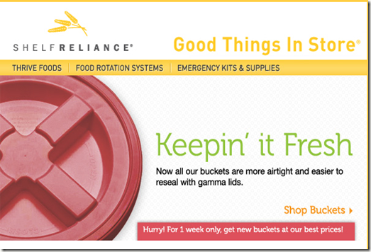 Buckets Shelf Reliance Sale