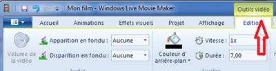 découper une vidéo Youtube avec Windows  live movie maker