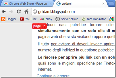 Page up Chrome