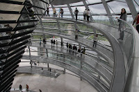 Kristy walking up the Reichstag
