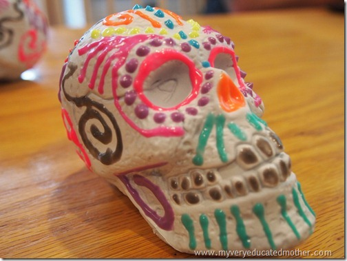 @mvemother Glow in the Dark Day of the Dead Skulls7