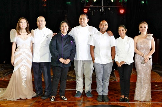 Lifestyle Asia s Anna Sobrepe–a and  Cheryl Tiu with Chefs Robert Bolanos Dedet Dela Fuente Jordy Navarra JP Anglo and Margarita Fores