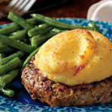 Polenta-Topped Pork Patties