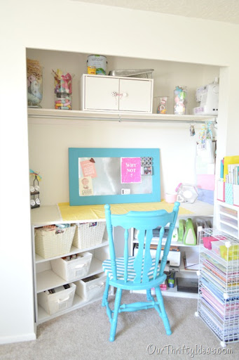Design A Craft Room In Your Bedroom Closet. Perfect If You Donu0027t Have