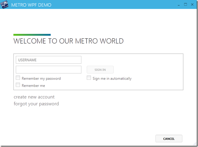 The main projects prefixed metrowpf have a core shell window login