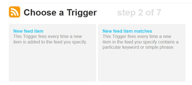 step 6 - select New feed item