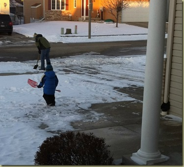 shoveling