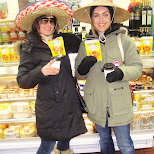 at kensington market cheese store in Toronto, Ontario, Canada