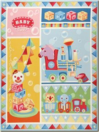 Ringling Brothers Baby Circus Panel Multi_6.48