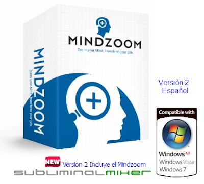 MINDZOOM 2 – Software de Mensajes Subliminales que reprograma su mente automáticamente con afirmaciones positivas