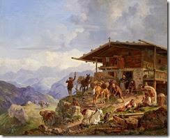 Heinrich_Bürkel_Ankunft_auf_der_Alm_1835