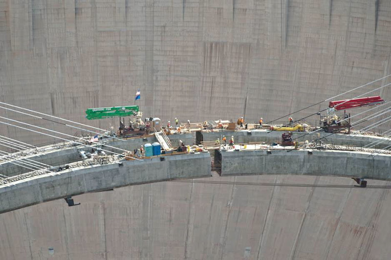 Hoover Dam bypass: Officially called the Mike O'Callaghan-Pat Tillman Memorial Bridge, after a former governor of Nevada and an American Football player from Arizona who joined the US Army and was killed in Afghanistan