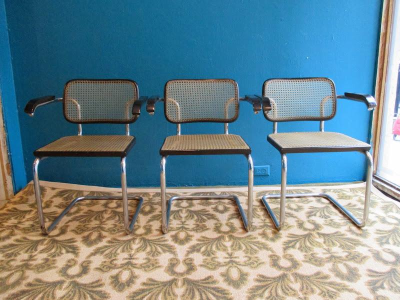 Stendig Marcel Breuer 1928 Cesca Chair Trio