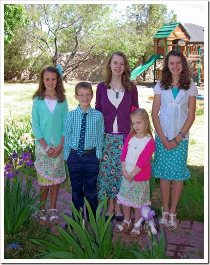 Girl's Easter skirts
