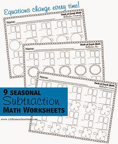 subtraction math worksheets for kids in 1st grade, 2nd grade, and 3rd grade.