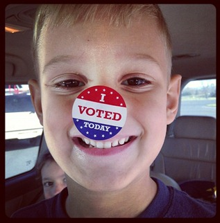 Kaleb vote sticker