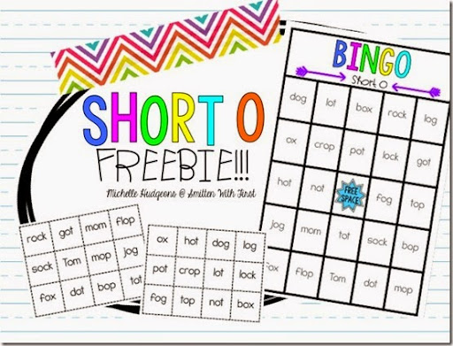 photo relating to Printable Short Vowel Games titled Quick Vowel Bingo FREEBIE! - Smitten with Initially