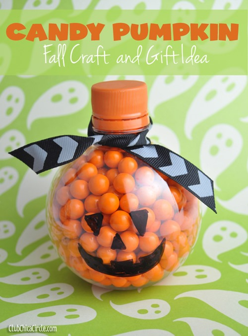Orange-Candy-Pumpkin-upcycled-from-water-bottle