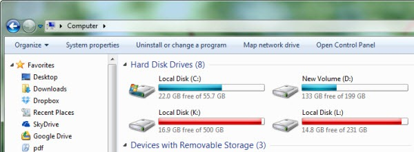 how to free space in d drive