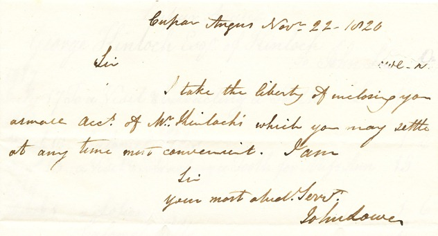 1820 medical bill covering letter