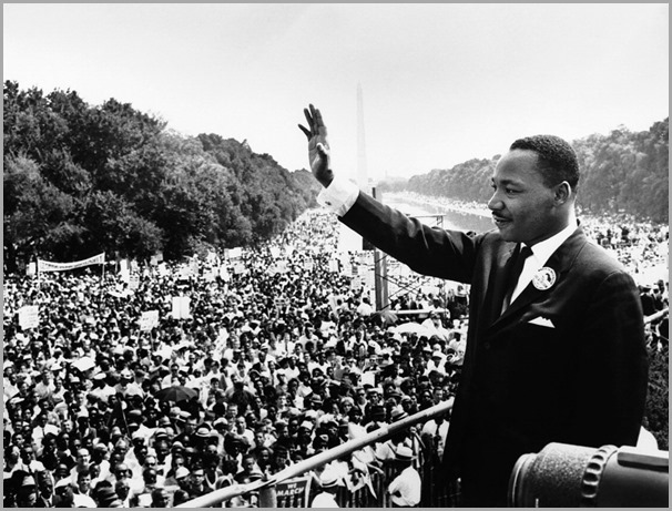 "The 1963 ""I Have A Dream"" speech in Washington D.C.  CLICK to visit the website for the Martin Luther King Jr. Center for Non-Violent Social Change."