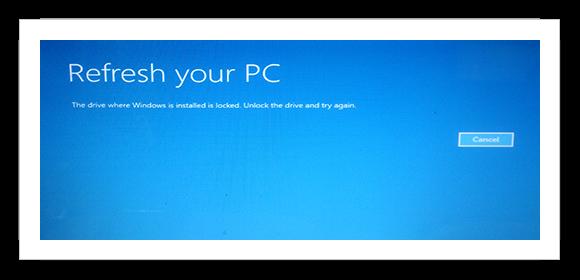 windows 8 repair error