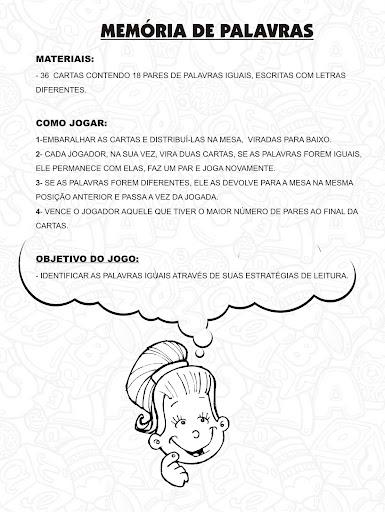 JOGO MEMORIA DE PALAVRAS