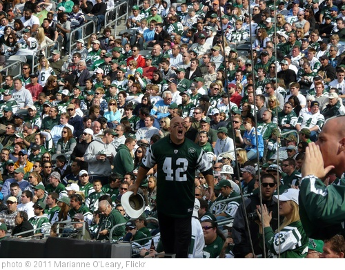'Fireman Ed Leads the J-E-T-S cheer' photo (c) 2011, Marianne O'Leary - license: http://creativecommons.org/licenses/by/2.0/