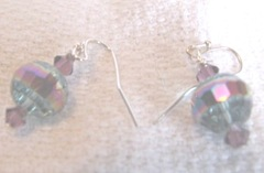 earrings 6.5.2012 crystal turq and purple