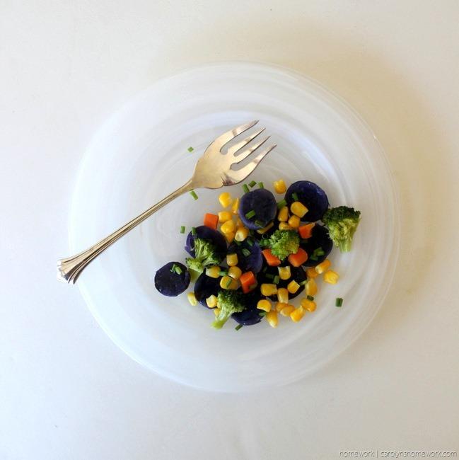 Purple Potato Vegetable Medley via homework - carolynshomework (4)