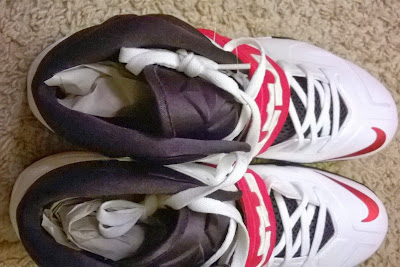 nike zoom soldier 7 pe white red black 1 03 Nike Zoom Soldier VII   Miami Heat Home and Away PEs