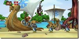 Donkey Kong Country Tropical Freeze, Donkey e Diddy praia