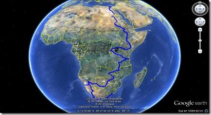 Traseul in Africa