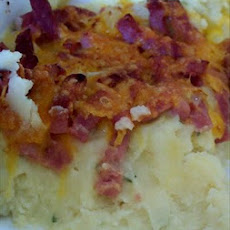 Instant Mashed Potato, Ham and Cheese Casserole